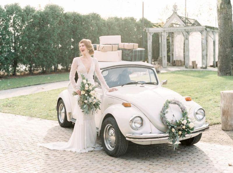 Věneček na auto pro nevěstu