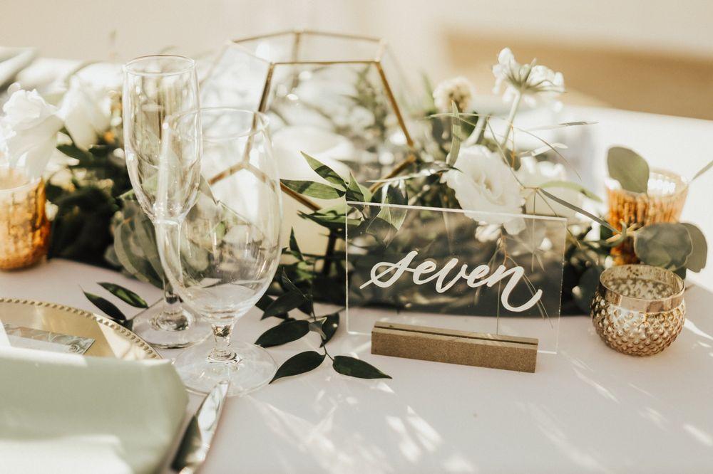 Svatební dekorace, florárium