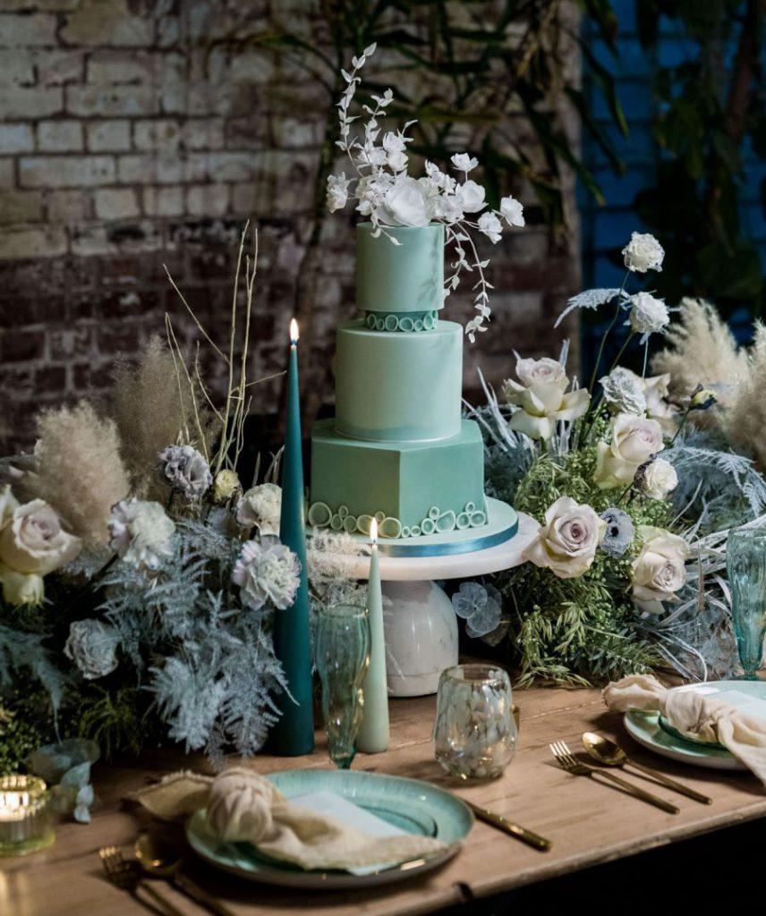 Svatba v MOHO styli, mentolová svatba