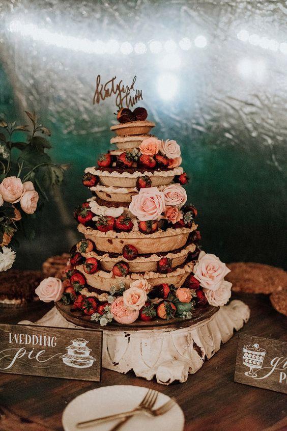 Tartaletkový svatební dort