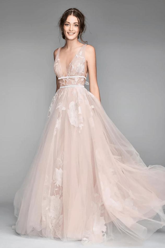 Svatební šaty blush
