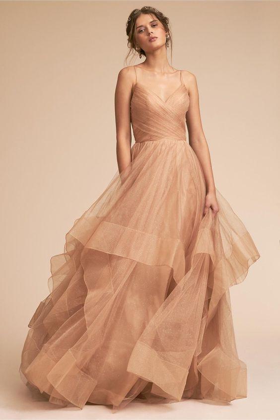 Píslkové svatební šaty, béžové svatební šaty