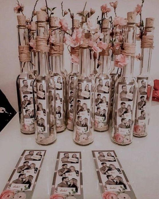 Svatební dekorace z lahví od vína