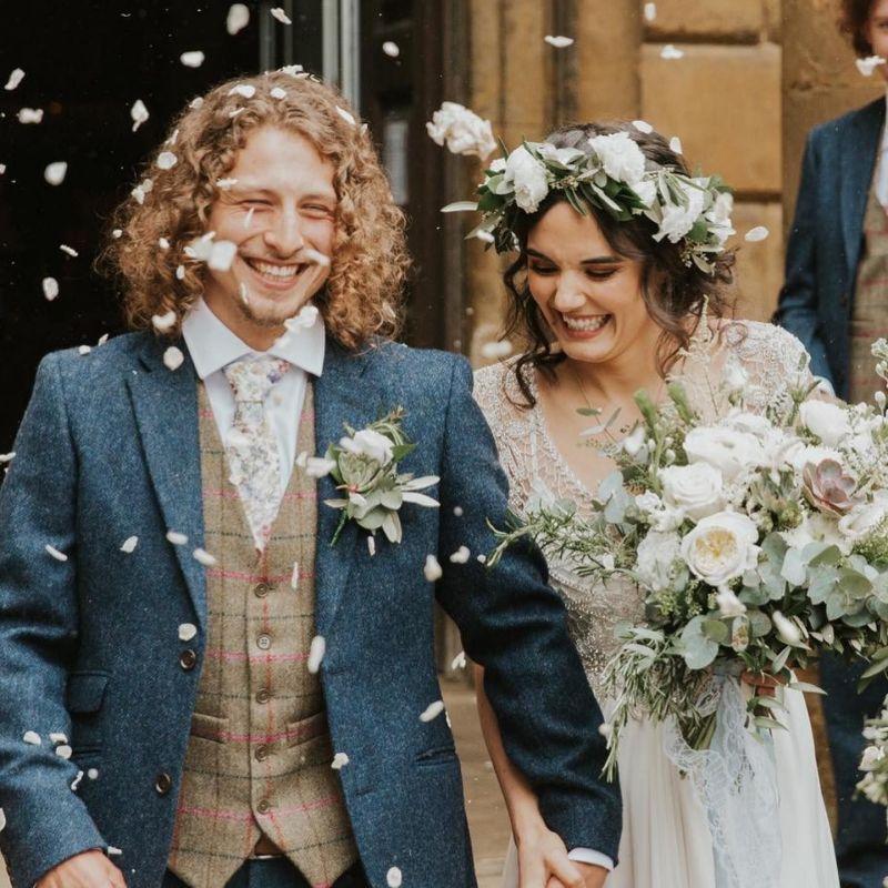 Květinový věnec na hlavu pro nevěstu, cottagecore nevěsta