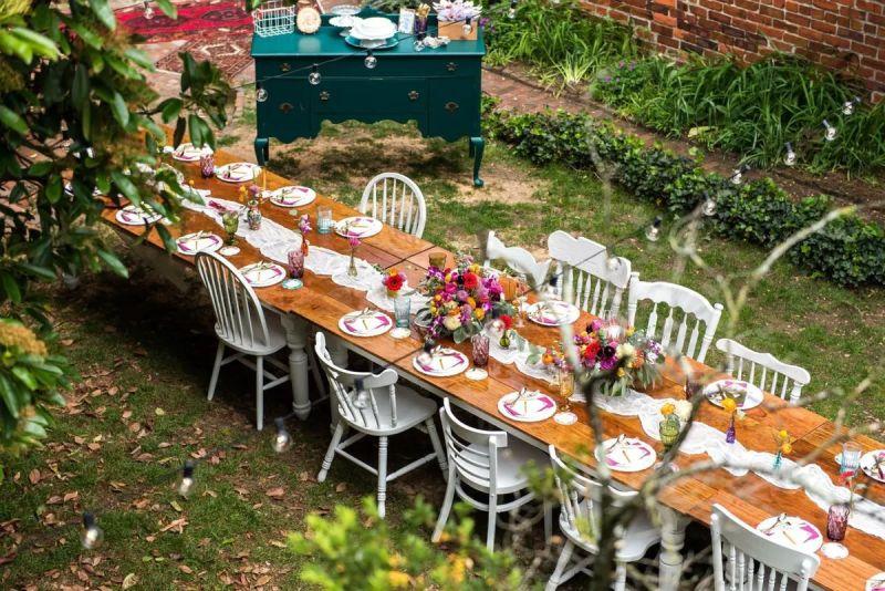 Svatba venku, zahradní svatba, domácká svatba