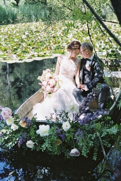Romantické svatební fotografie