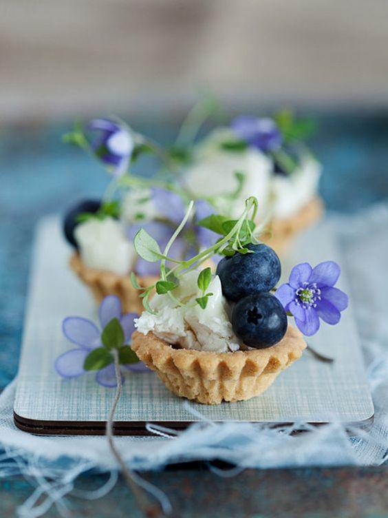 Tartaletky s jedlými květy
