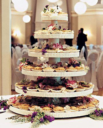 Tartaletkový dort na svatbu