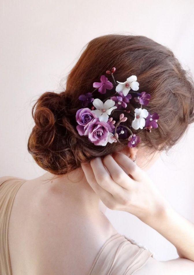 Květiny do vlasů pro nevěstu