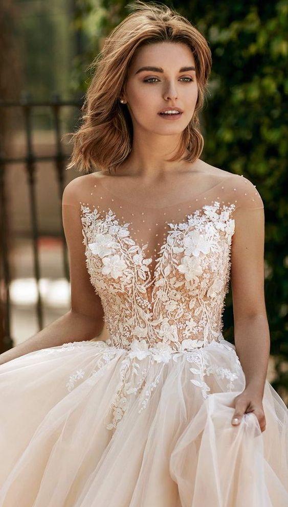 Svatební šaty champagne