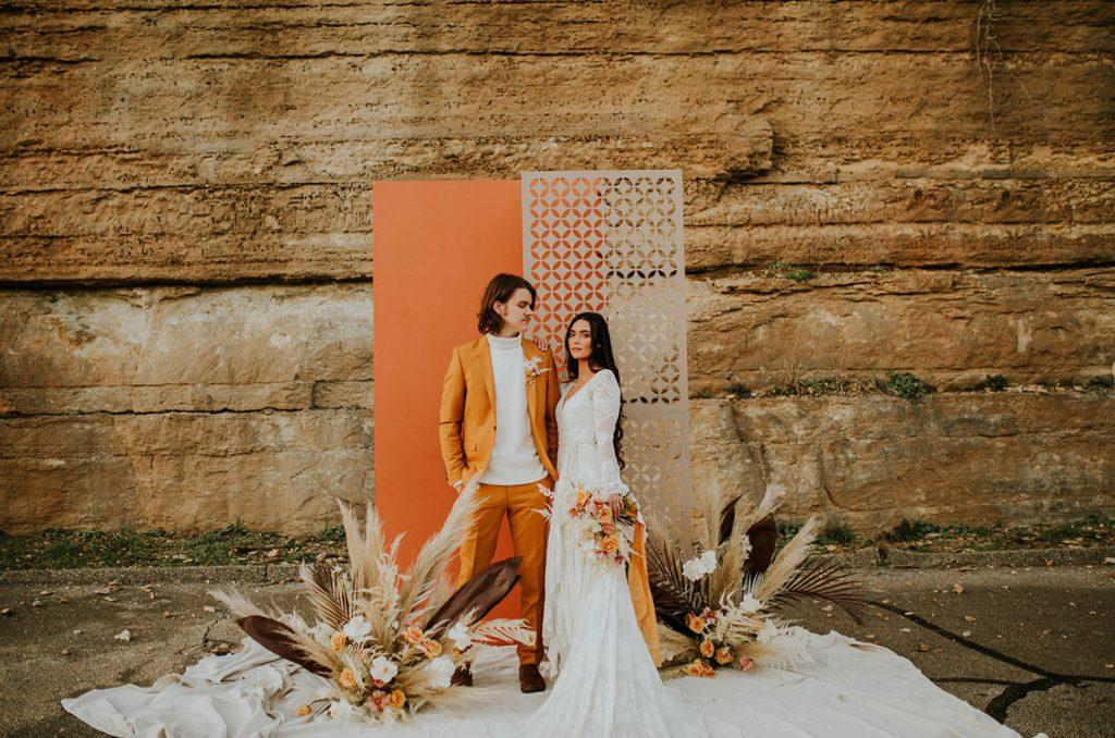 malá svatba, výzdoba svatebního místa