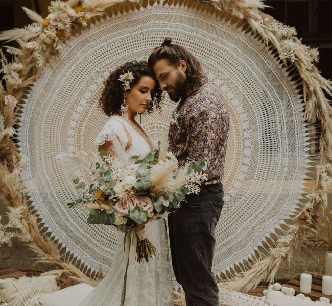 Malá svatba, boho svatba, svatební dekorace, macramé dekorace