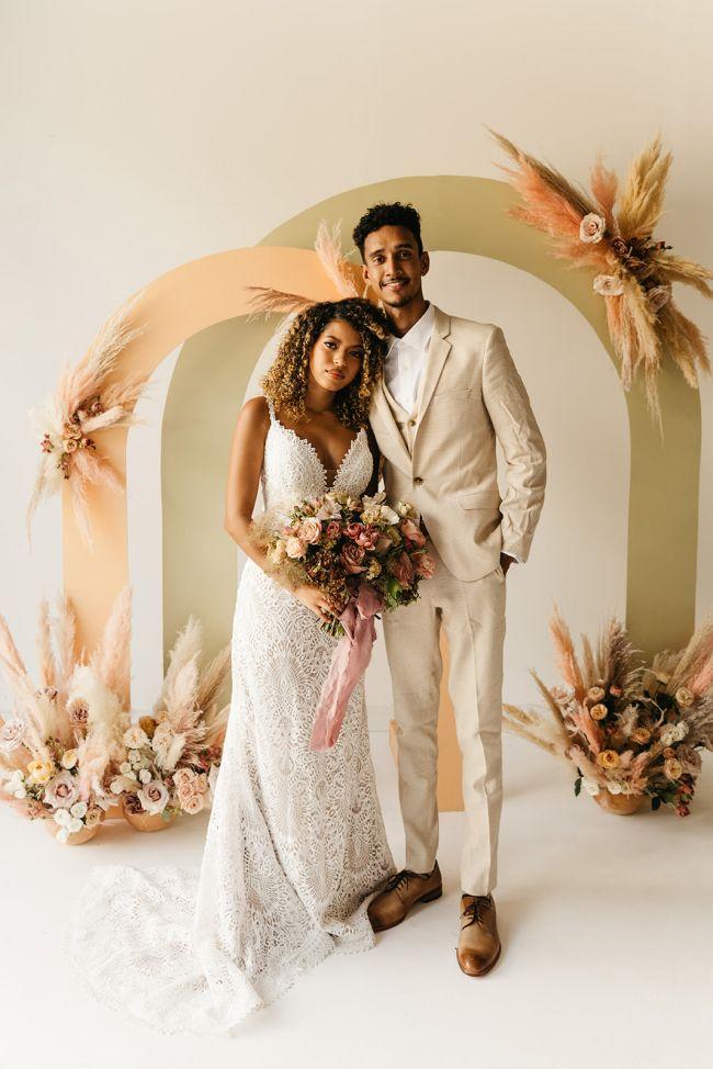 Malá svatba, geometrické dekorace na svatbu