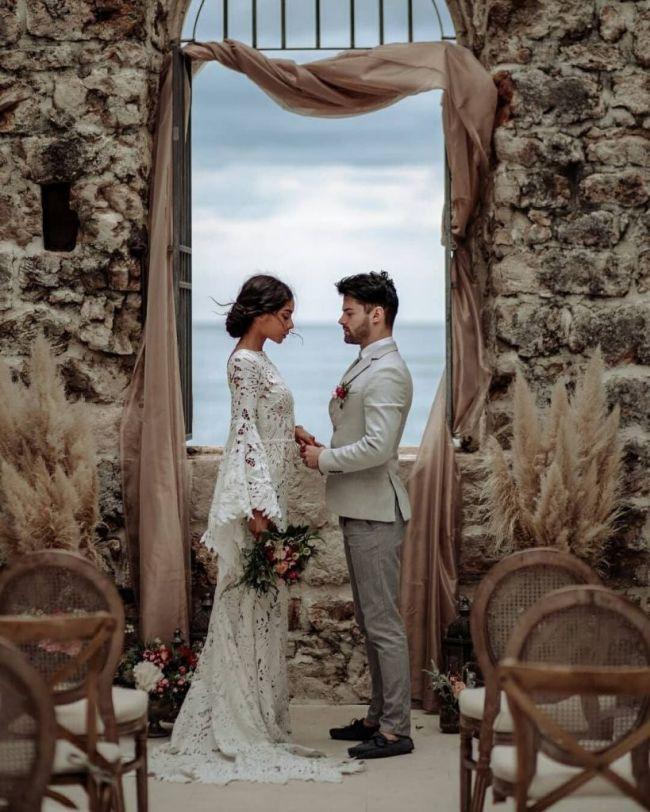 Malá svatba, dekorace místa obřadu