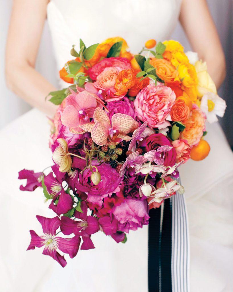 Tropická svatební kytice