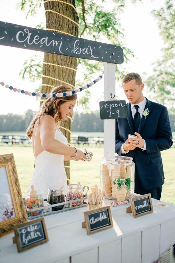 Zmrzlinový stánek na svatbu