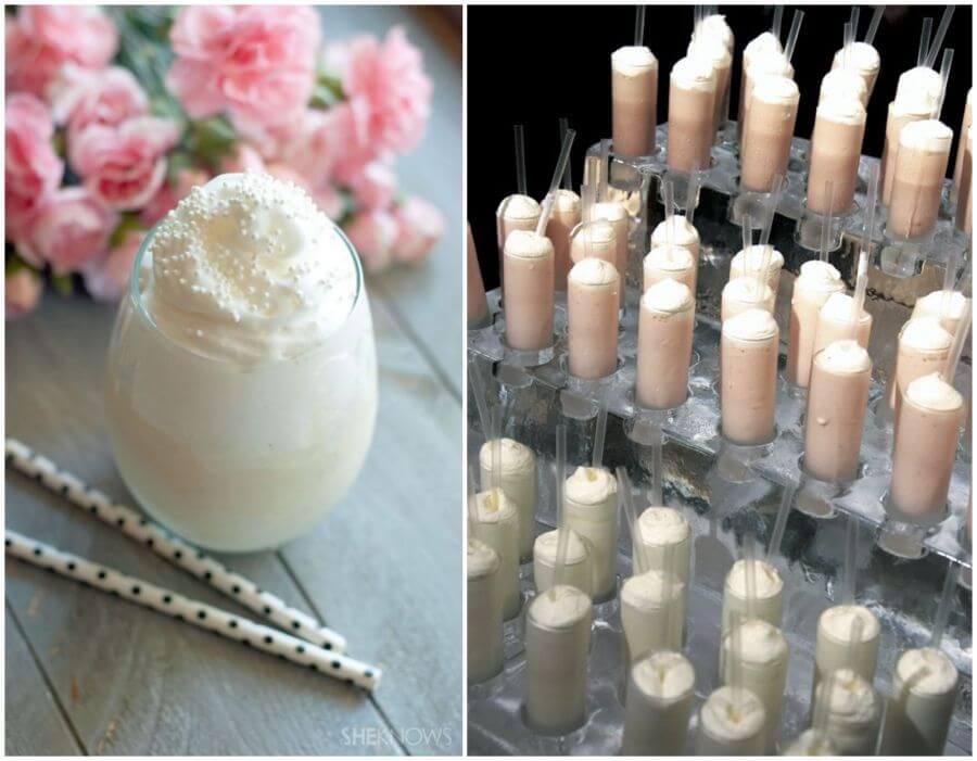 Ledové milkshaky pro svatební hosty
