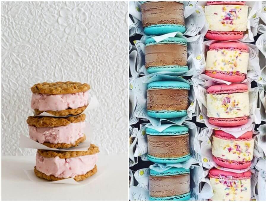 Zmrzlinové sendviče na svatbu