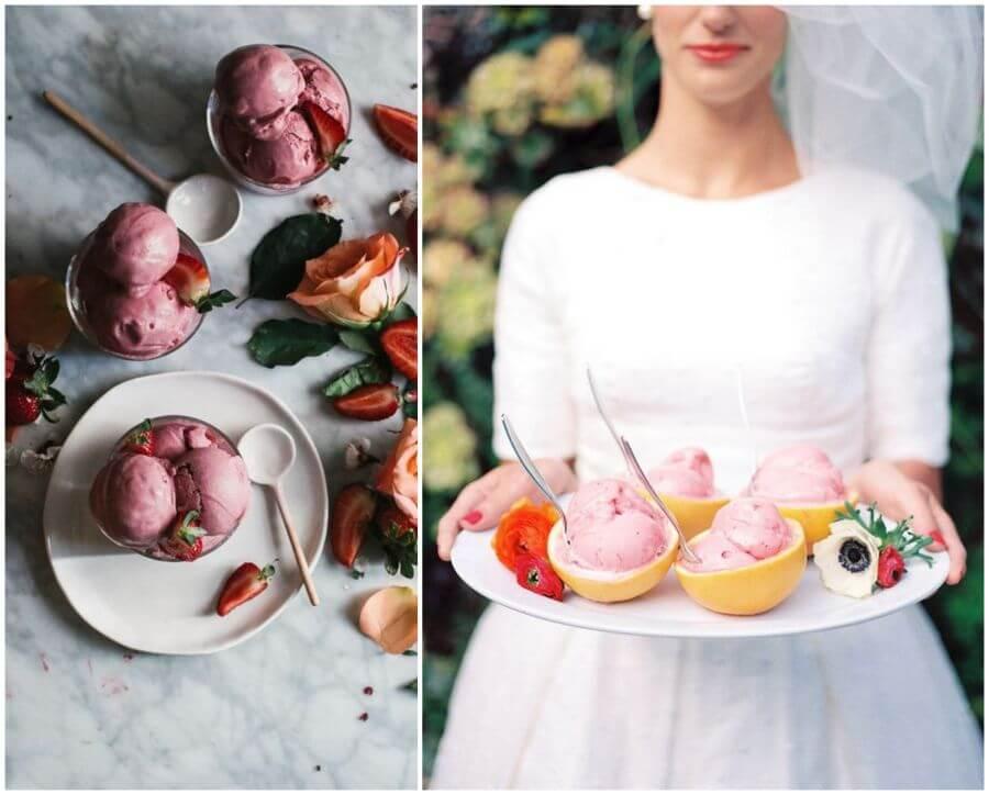 Jak servírovat zmrzlinu na svatbě