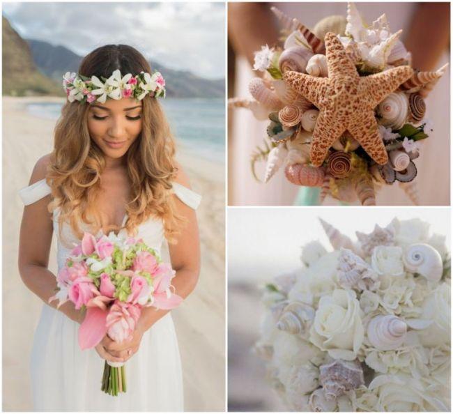 Plážová svatba, svatební kytice
