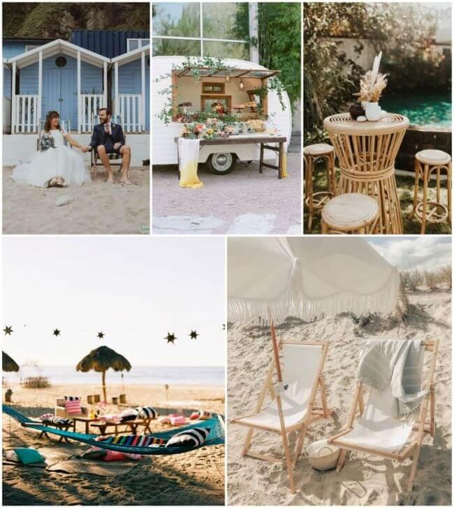 Plážová svatba, relaxační koutek