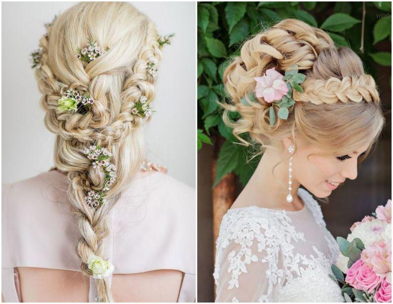 Svatební účesy s květinami