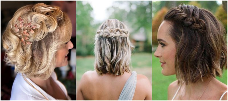 Účes pro nevěstu z krátkých vlasů