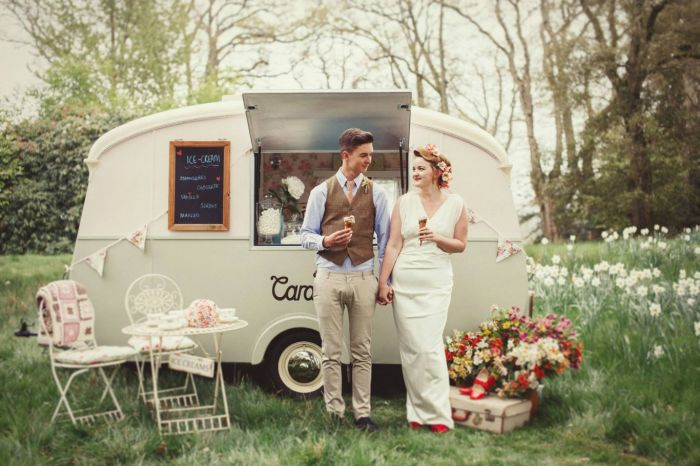 Zmrzlinový bar na svatbu