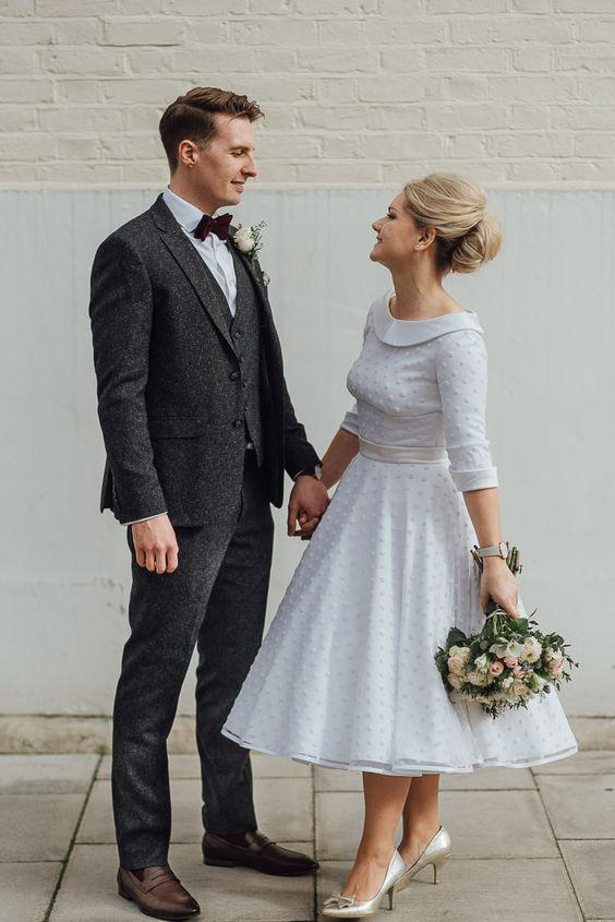 Retro svatební šaty, móda šedesátých let