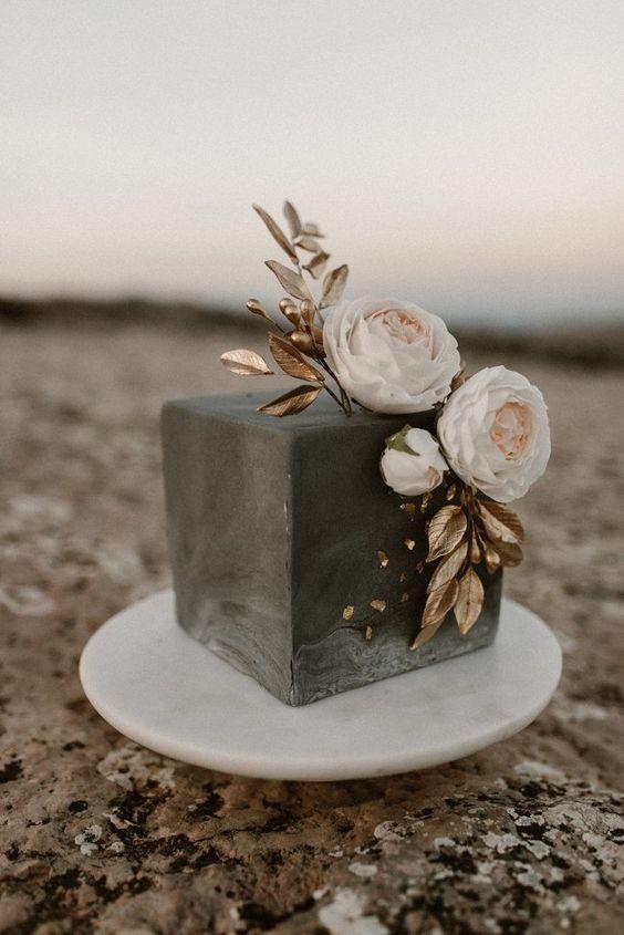 Betonový svatební dort, malý svatební dort