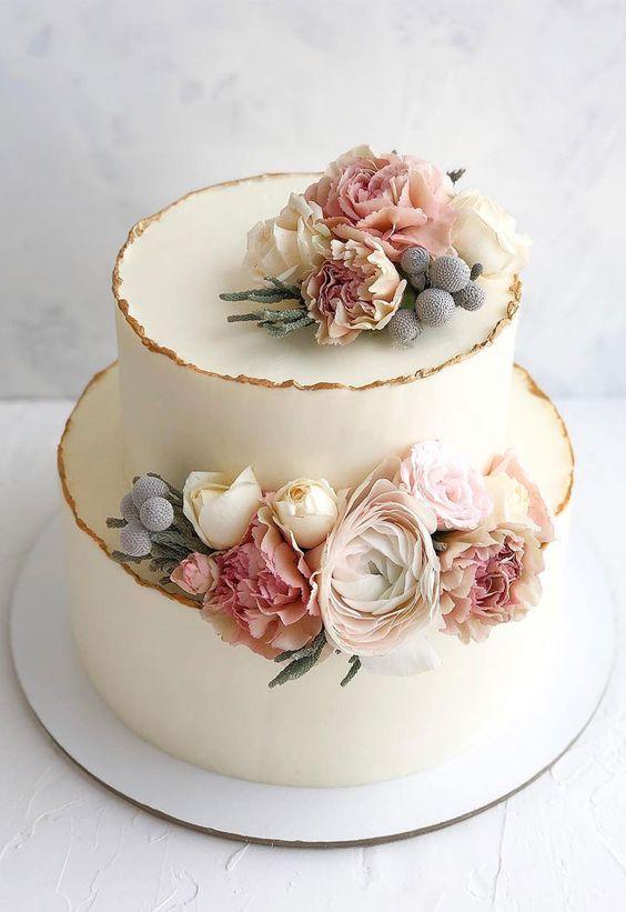 Rustikální svatební dort