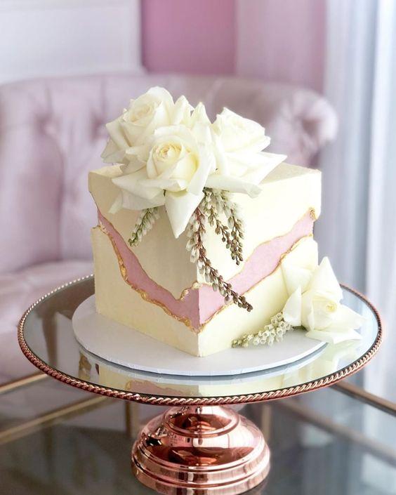 Svatební dort kostka