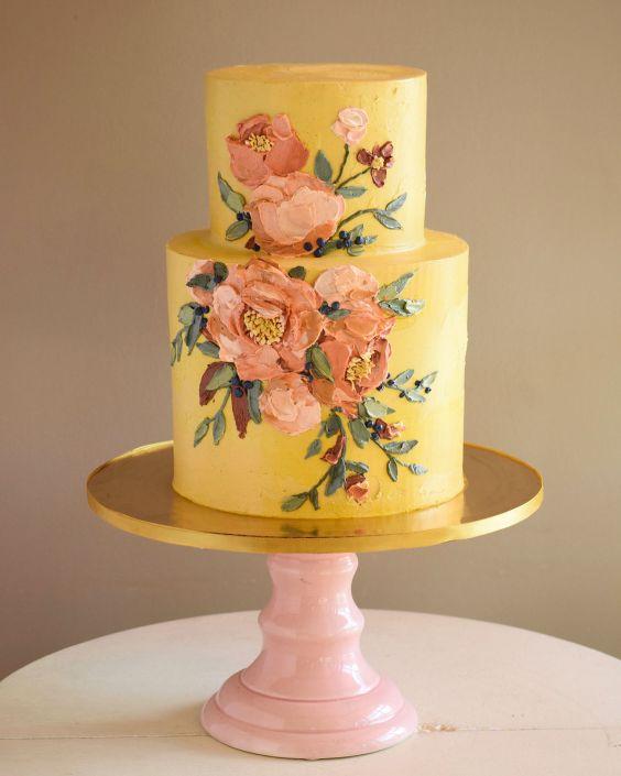 Malovaný svatební dort